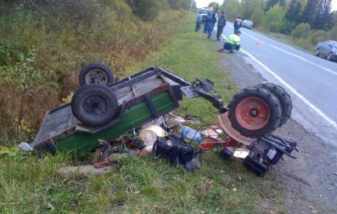 Авария на мотоблоке