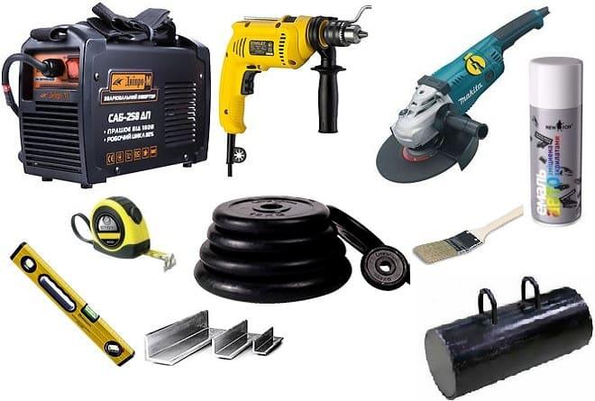Инструменты и оборудование для утяжелителей