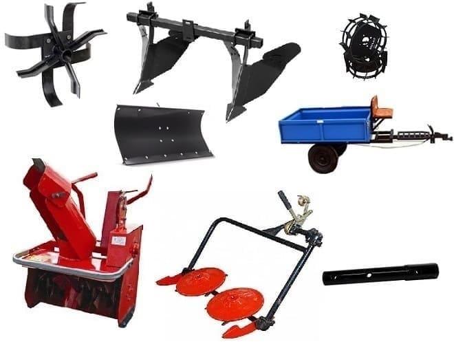 Прицепное и навесное оборудование к мотоблоку Каскад