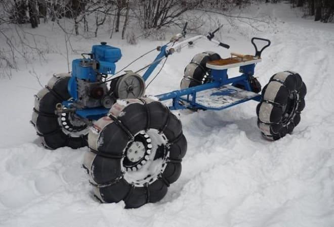 Снегоход своими руками из мотоблока 40