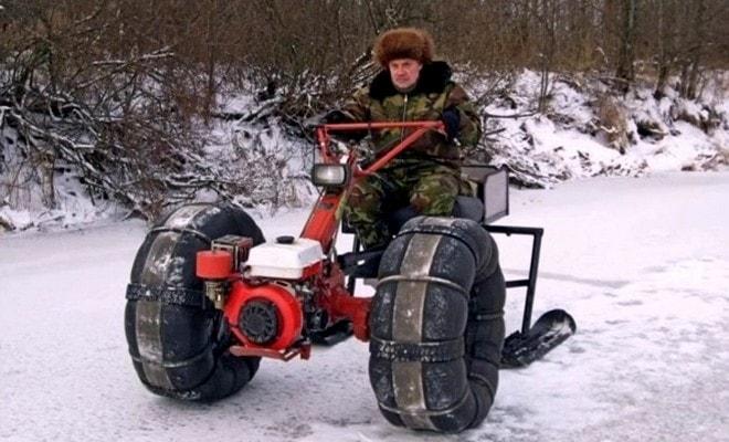 Снегоход своими руками из мотоблока 47