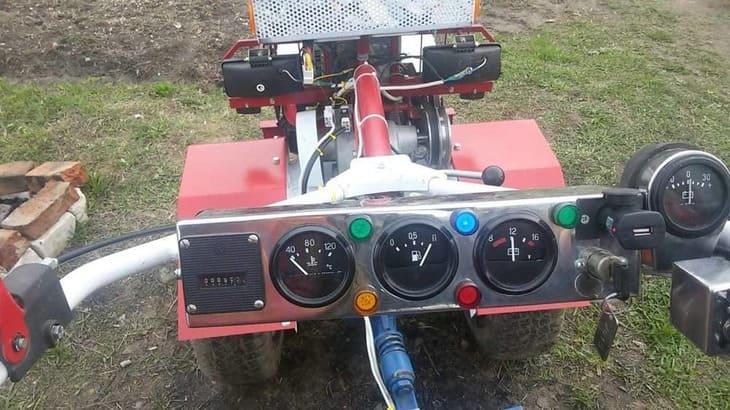 Приборная панели для мотоблока на руль