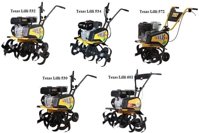 Модельный ряд мотоблоков Texas