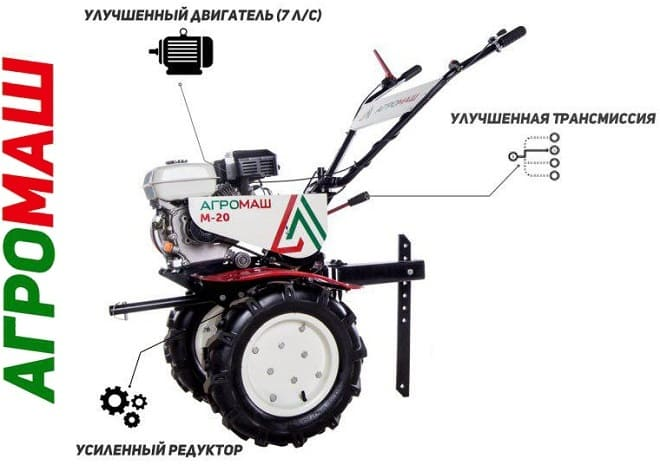 Мотоблок Агромаш М-20