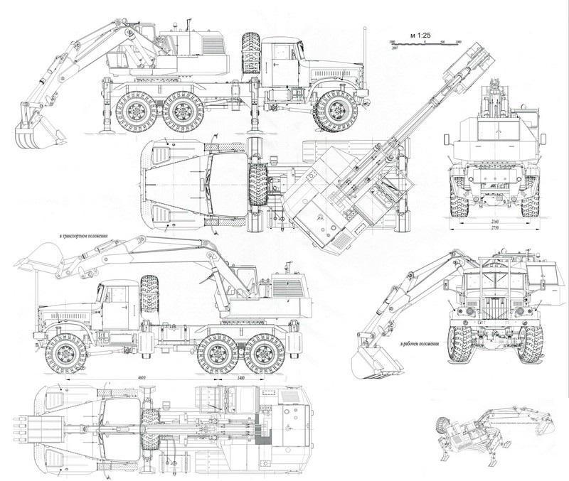 Технические характеристики экскаватора КрАЗ-255