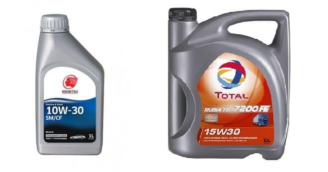Минеральное масло 10W30 и 15W30