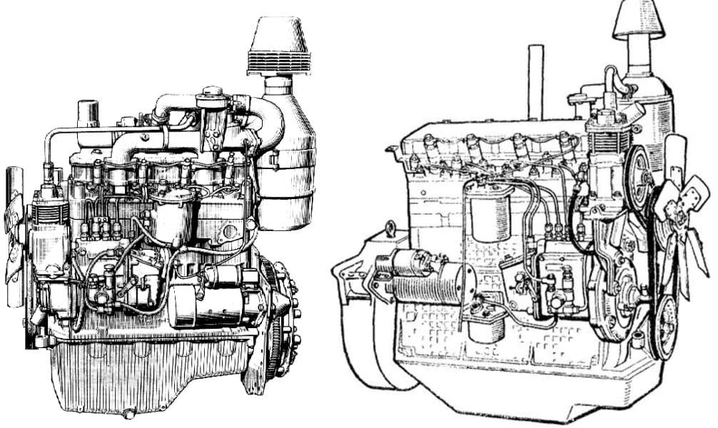 Дизельные двигателя Д-242 и Д-65 для трактора