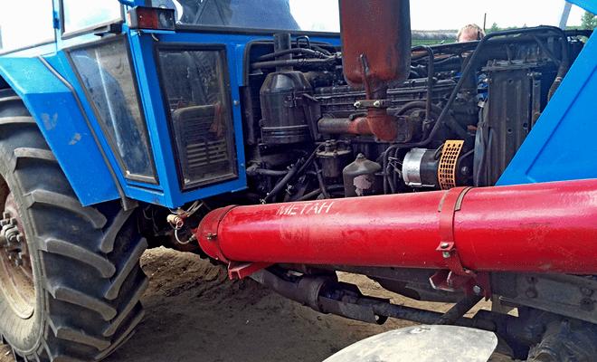 Газовый балон на трактор