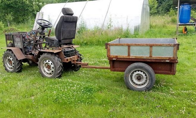 Перевозка грузов минитрактором