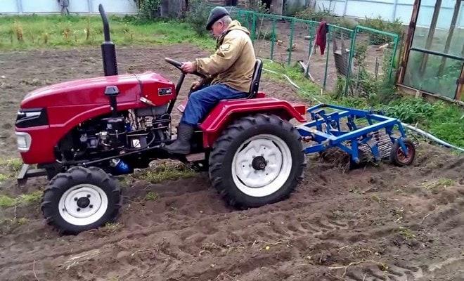 Посадка в трактор