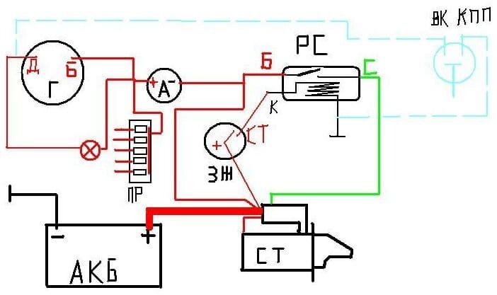 Схема подключения замка зажигания на МТЗ-82 Беларус