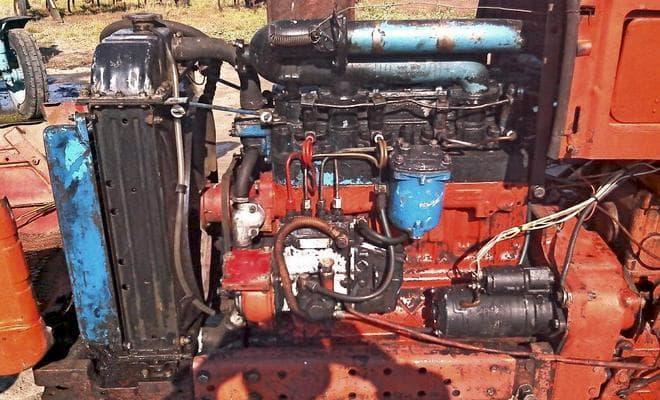 Тракторный двигатель