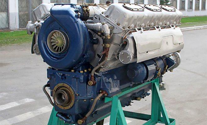 Мотор бульдозера