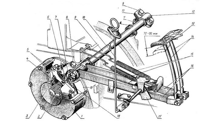 Схема рабочий тормоз трактора
