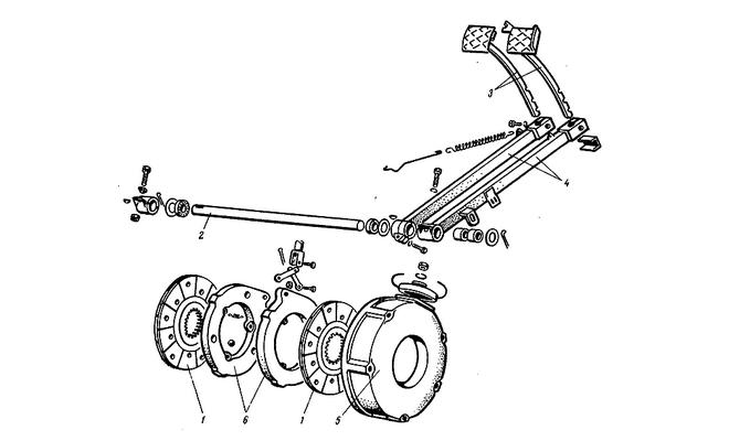 Схема тормозов МТЗ