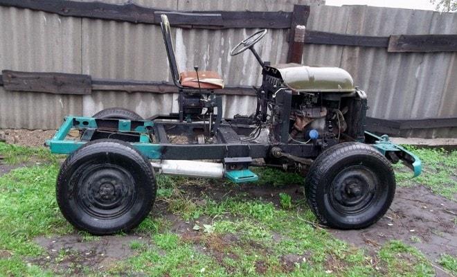 Трактор из автомобиля