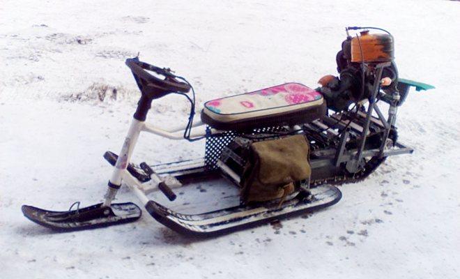 Модернизированный снегокат