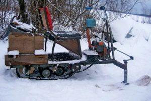 Как самостоятельно изготовить снегоход и другие самоделки из бензопилы Дружба