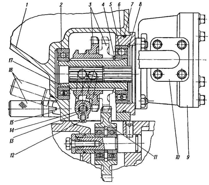 Устройство гидравлического насоса МТЗ-80