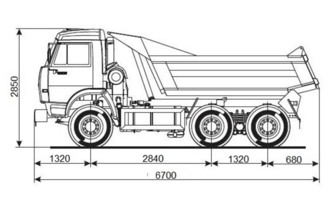 Габаритные размеры модели 55111