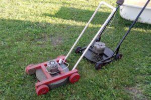 Как сделать газонокосилку из старых инструментов и бытовой техники своими руками