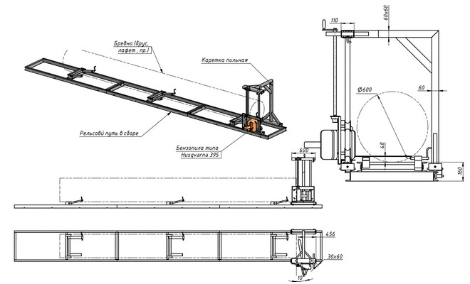 Схема пилорамы