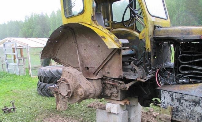 Демонтаж колес