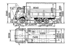 Габаритные характеристики и ширина грузовиков КамАЗ с разными типами кузовов