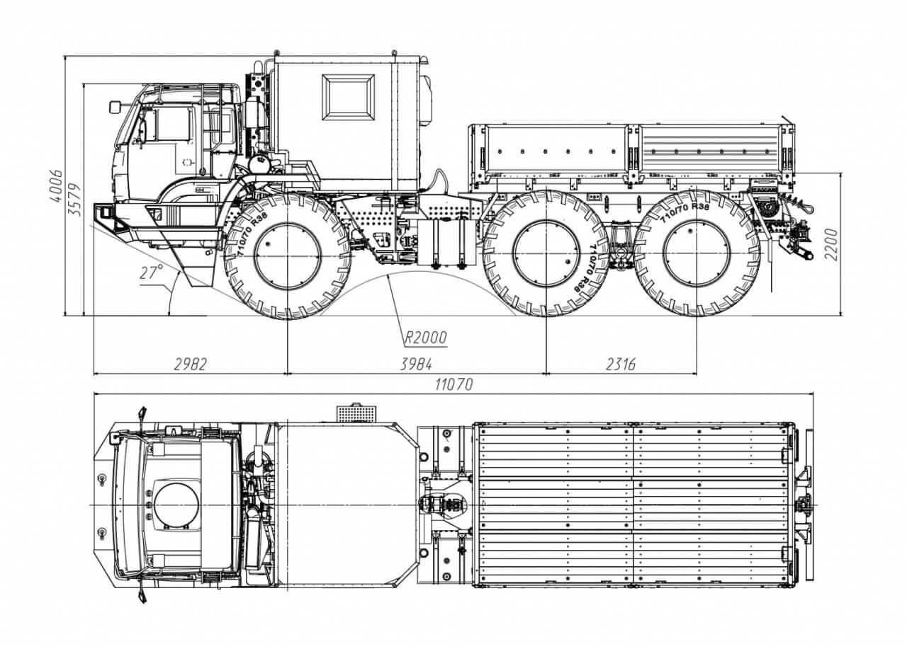 КАМАЗ-6345 Арктика габариты