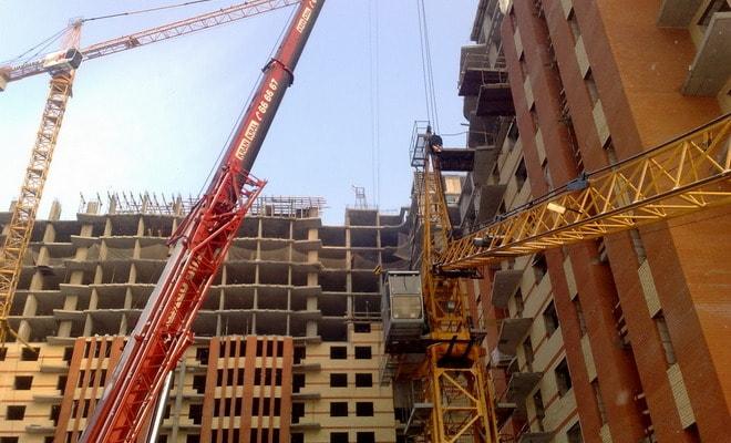 Сборка строительного крана