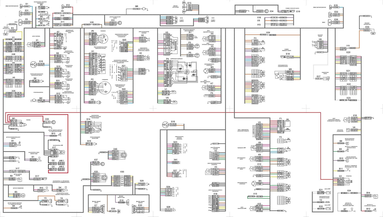 Схема электрического оборудования Камаз 6522