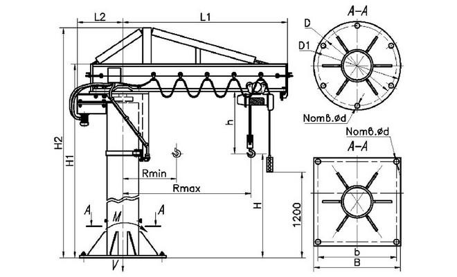 Схема консольно подъемного устройства