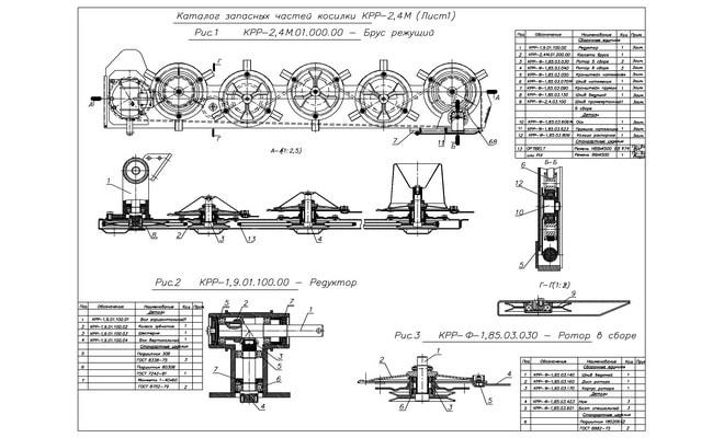 Схема косилки КРР