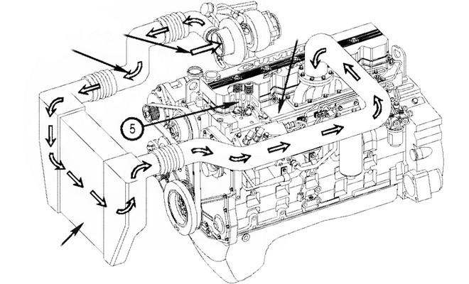 Схема охладительной системы