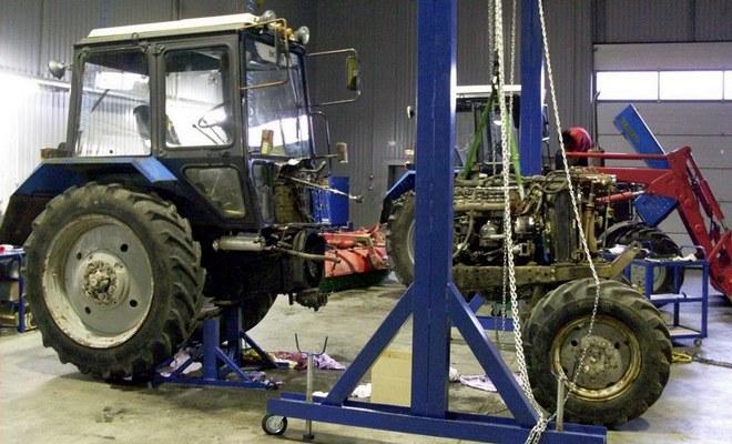 Трактор МТЗ на ТО