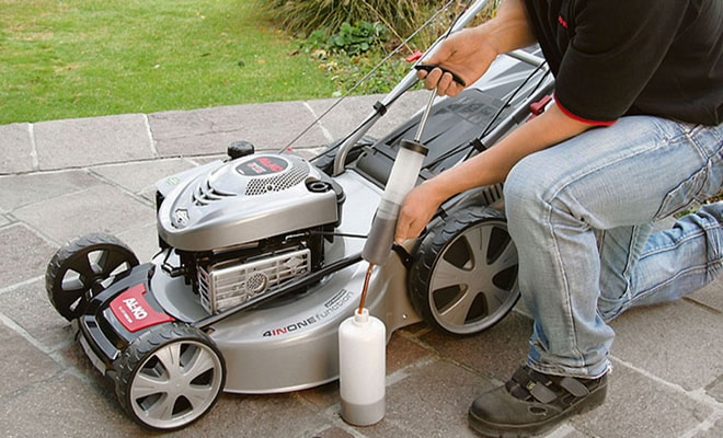Газонокосилка Viking электрические и аккумуляторные косилки самоходные модели правила замены масла