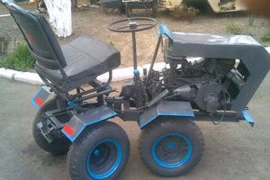 Самодельные мини-трактора с ломающейся рамой