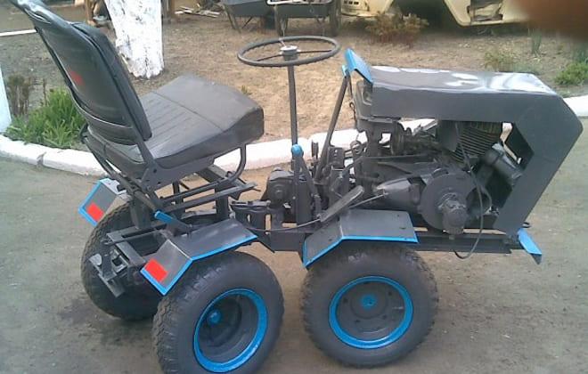 Мини-трактора самодельные с ломающейся рамой: 4х4, своими руками, как собрать