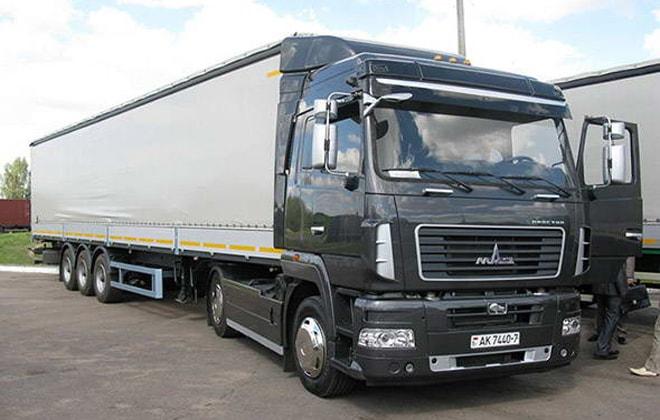 Машина для перевозки тяжелых строительных грузов