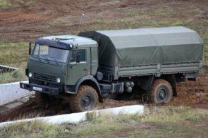 Полноприводный военный автомобиль КамАЗ-4350 семейства Мустанг