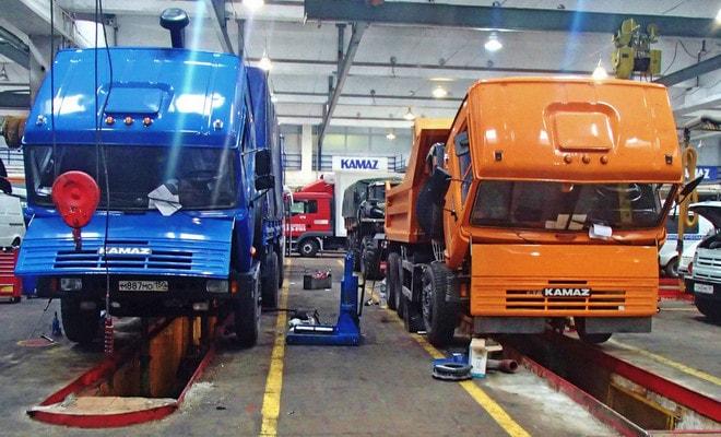 Обслуживание грузовиков КамАЗ