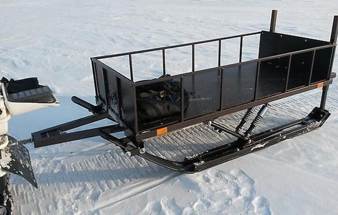 Прицеп для движения по снегу