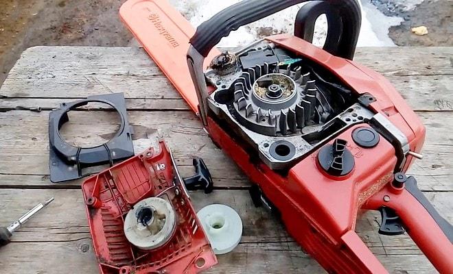 Пусковая система двигателя бензопилы