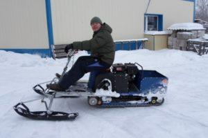Как своими руками сделать снегоход на базе разных двигателей