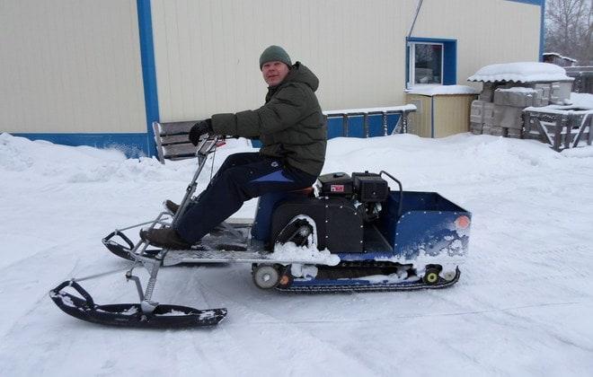 Самоделка для движения по снегу