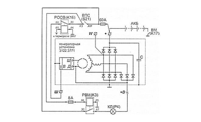 Схема электрооборудования КамАЗа
