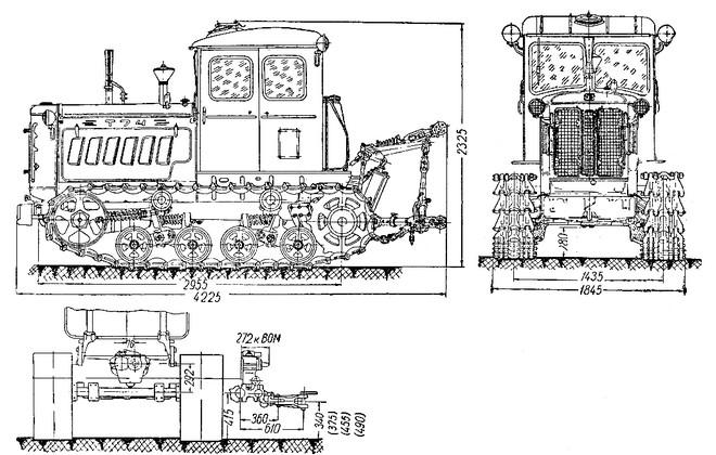 Схема гусеничной машины