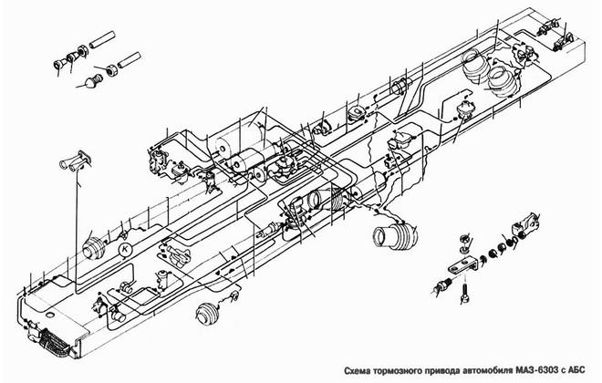 Схема тормозного привода