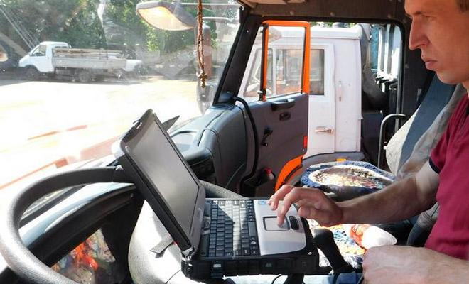 Сканирование грузовика