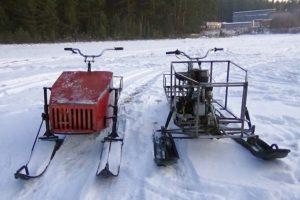 Популярные среди народных умельцев конструкции самодельных снегоходов